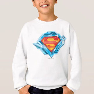 Superman S-Shield | Red and Blue Metal Logo Sweatshirt