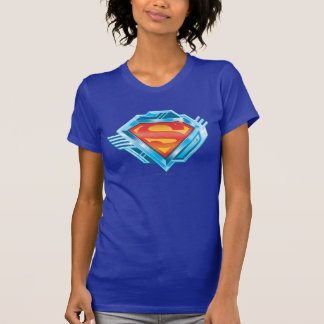 Superman S-Shield   Red and Blue Metal Logo T-Shirt