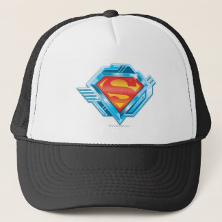 Superman S-Shield | Red and Blue Metal Logo Trucker Hat