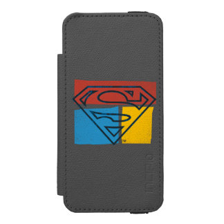 Superman S-Shield | Red Blue Yellow Block Logo Incipio Watson™ iPhone 5 Wallet Case