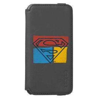 Superman S-Shield | Red Blue Yellow Block Logo Incipio Watson™ iPhone 6 Wallet Case