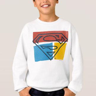 Superman S-Shield | Red Blue Yellow Block Logo Sweatshirt