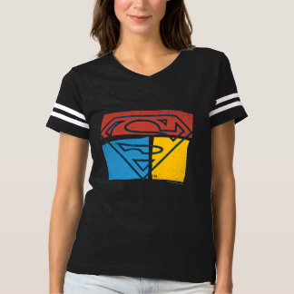 Superman S-Shield | Red Blue Yellow Block Logo T-Shirt