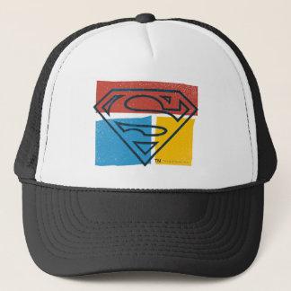 Superman S-Shield | Red Blue Yellow Block Logo Trucker Hat