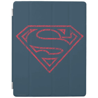 Superman S-Shield | Red Outline Logo iPad Cover