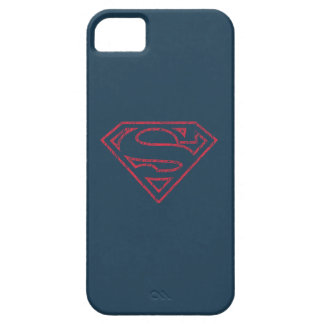 Superman S-Shield | Red Outline Logo iPhone 5 Case