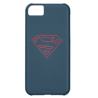Superman S-Shield | Red Outline Logo iPhone 5C Case