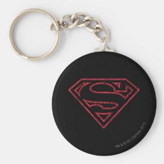Superman S-Shield   Red Outline Logo Key Ring