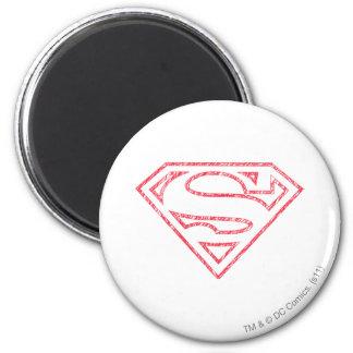 Superman S-Shield   Red Outline Logo Magnet