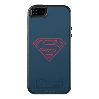 Superman S-Shield | Red Outline Logo OtterBox iPhone 5/5s/SE Case