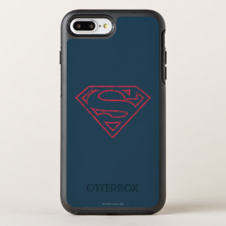 Superman S-Shield | Red Outline Logo OtterBox Symmetry iPhone 7 Plus Case