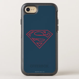 Superman S-Shield | Red Outline Logo OtterBox Symmetry iPhone 8/7 Case