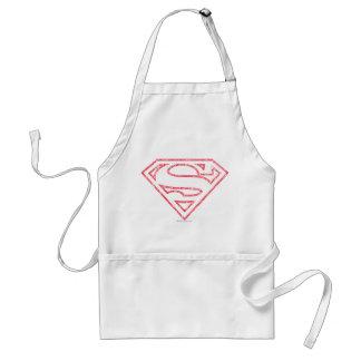 Superman S-Shield   Red Outline Logo Standard Apron