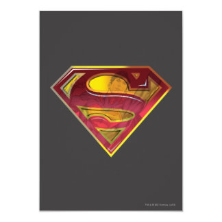 Superman S-Shield | Reflection Logo 13 Cm X 18 Cm Invitation Card