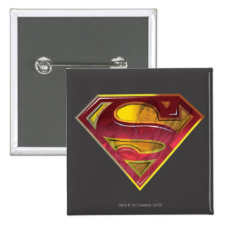 Superman S-Shield | Reflection Logo 15 Cm Square Badge