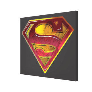 Superman S-Shield | Reflection Logo Canvas Print