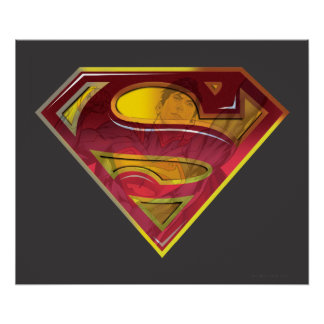 Superman S-Shield | Reflection Logo Poster
