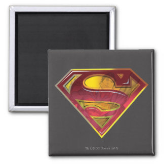 Superman S-Shield | Reflection Logo Square Magnet