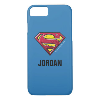Superman S-Shield | Scratches Logo | Add Your Name iPhone 8/7 Case