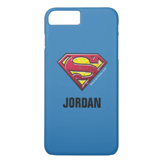 Superman S-Shield | Scratches Logo | Add Your Name iPhone 8 Plus/7 Plus Case