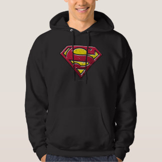 Superman S-Shield | Scratches Logo Hoodie