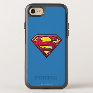 Superman S-Shield | Scratches Logo OtterBox Symmetry iPhone 8/7 Case