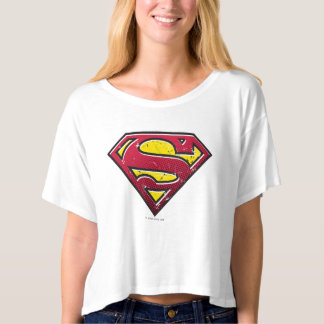 Superman S-Shield | Scratches Logo T-Shirt