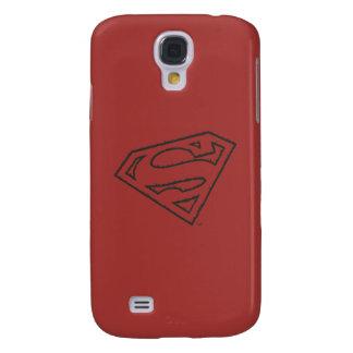 Superman S-Shield   Sideways Grunge Logo Galaxy S4 Case