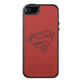 Superman S-Shield | Sideways Grunge Logo OtterBox iPhone 5/5s/SE Case