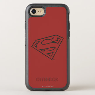 Superman S-Shield | Sideways Grunge Logo OtterBox Symmetry iPhone 8/7 Case