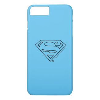 Superman S-Shield | Simple Black Outline Logo 2 iPhone 8 Plus/7 Plus Case