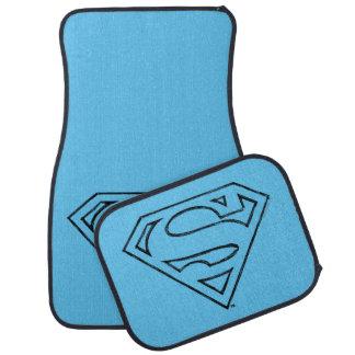 Superman S-Shield | Simple Black Outline Logo Floor Mat
