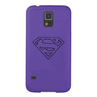Superman S-Shield | Simple Black Outline Logo Galaxy S5 Case