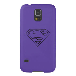 Superman S-Shield | Simple Black Outline Logo Galaxy S5 Cover