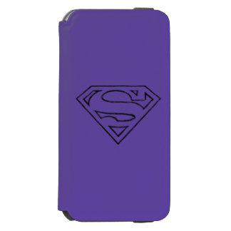 Superman S-Shield | Simple Black Outline Logo Incipio Watson™ iPhone 6 Wallet Case