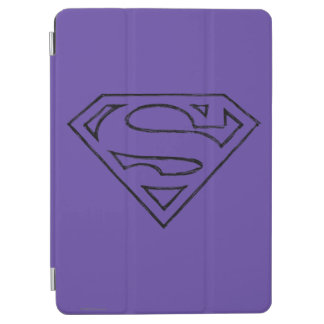 Superman S-Shield | Simple Black Outline Logo iPad Air Cover