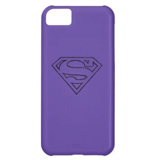 Superman S-Shield | Simple Black Outline Logo iPhone 5C Case
