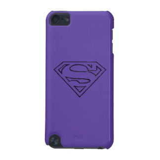 Superman S-Shield | Simple Black Outline Logo iPod Touch (5th Generation) Cover