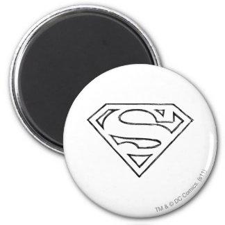 Superman S-Shield | Simple Black Outline Logo Magnet