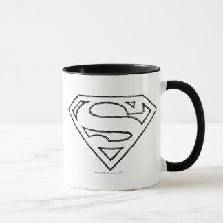 Superman S-Shield | Simple Black Outline Logo Mug