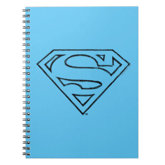 Superman S-Shield | Simple Black Outline Logo Notebook