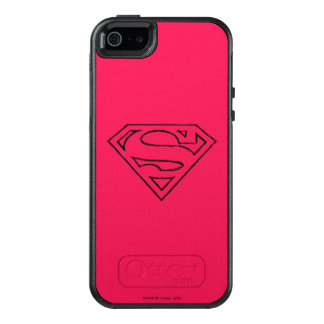 Superman S-Shield | Simple Black Outline Logo OtterBox iPhone 5/5s/SE Case