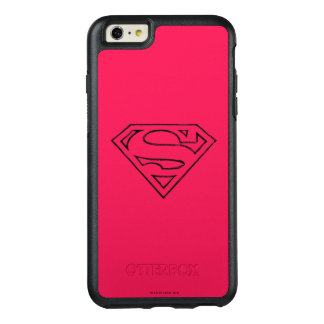 Superman S-Shield | Simple Black Outline Logo OtterBox iPhone 6/6s Plus Case