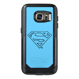 Superman S-Shield | Simple Black Outline Logo OtterBox Samsung Galaxy S7 Case