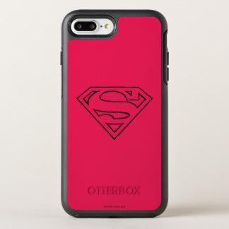 Superman S-Shield | Simple Black Outline Logo OtterBox Symmetry iPhone 7 Plus Case