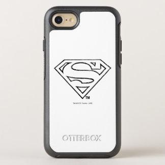 Superman S-Shield | Simple Black Outline Logo OtterBox Symmetry iPhone 8/7 Case