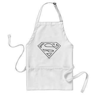 Superman S-Shield | Simple Black Outline Logo Standard Apron
