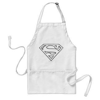 Superman S-Shield   Simple Black Outline Logo Standard Apron