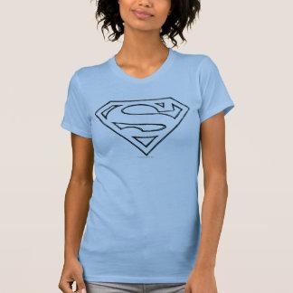 Superman S-Shield   Simple Black Outline Logo T-Shirt