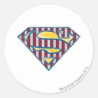 Superman S-Shield | Striped Logo Classic Round Sticker